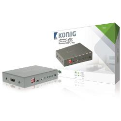 König KNVSP3404 4-poorts HDMI splitter HDMI-ingang - 4x HDMI-uitgang donkergrijs
