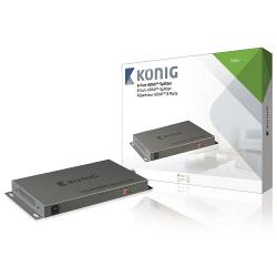 König KNVSP3408 8-poorts HDMI splitter HDMI-ingang - 8x HDMI-uitgang donkergrijs