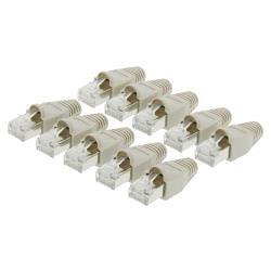 Valueline VLCP89350E Netwerk connector RJ45 male CAT5 incl. trekontlasting grijs 10 st