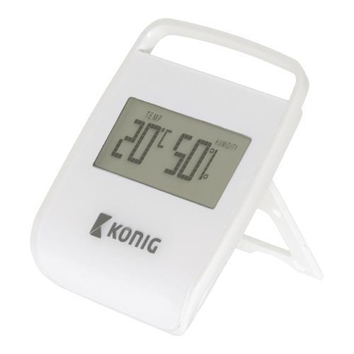 KN-DTH10 Thermometer/Hygrometer voor Binnen Wit