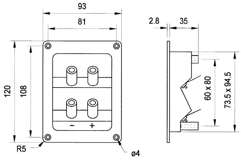 Visaton 5182 Dubbele luidspreker terminal