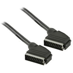 Valueline VLVT31000B10 SCART kabel SCART mannelijk - SCART mannelijk 1,00 m zwart