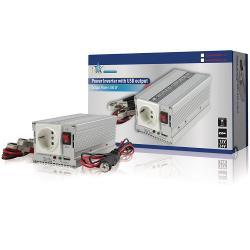 HQ HQ-INV300WU-12 Omvormer 12 - 230 V 300 W schuko en USB