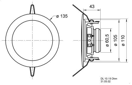 "Visaton 50110 Plafond luidspreker 10 cm (4"")"