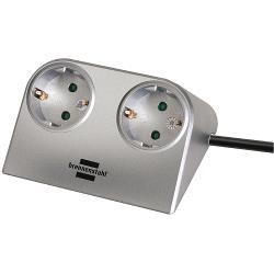 Brennenstuhl 1153540 Brennenstuhl Desktop-Power 2-way silver 1,8m H05VV-F 3G1,5