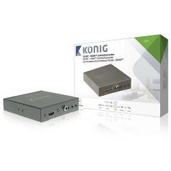 König KNVCO3420 SCART + HDMI - HDMI-schakelaar/converter SCART + HDMI-ingang - HDMI-uitgang donkergrijs