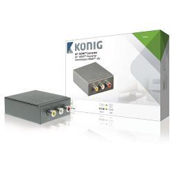 König KNVCO3430 AV - HDMI converter RCA-ingang - HDMI-uitgang donkergrijs