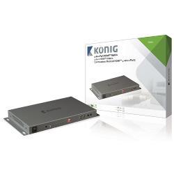 König KNVMA3442 4-naar-2-poorts HDMI matrix 4x HDMI-ingang - 2x HDMI-uitgang donkergrijs