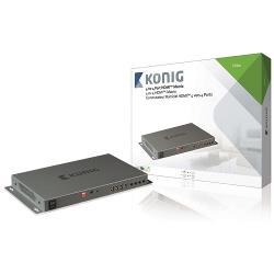 König KNVMA3444 4-naar-4-poorts HDMI matrix 4x HDMI-ingang - 4x HDMI-uitgang donkergrijs