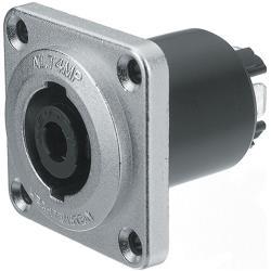 Neutrik NLT4MP Flush-mounted connector, Speakon STX Zilver 4P