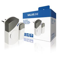 Valueline SVL-WDB301 Draadloze Deurbel met 36 Verschillende Melodieën AC Wit