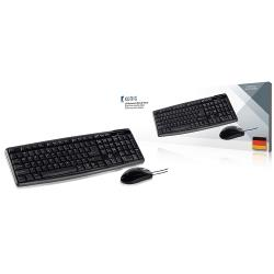 König CSKMCU100DE Bedrade Muis en Keyboard Standaard USB German Zwart