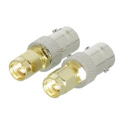 Valueline VLSP02961A SMA adapter SMA male - BNC female goud/zilver 2 st