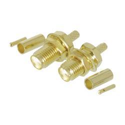 Valueline VLSP02901A SMA connector female krimp goud 2 st