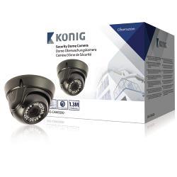 König SAS-CAM3200 Dome Beveiligingscamera 1000 TVL Zwart