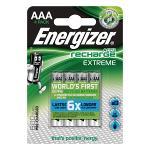 Energizer 53541687900 Oplaadbare NiMH Batterij AAA 1.2 V Extreme 800 mAh 4-Blister