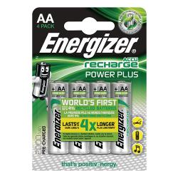 Energizer 53541701200 Oplaadbare NiMH Batterij AA 1.2 V Power Plus 2000 mAh 4-Blister