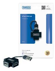 Sweex US012 Sweex 4-poorts USB-hub
