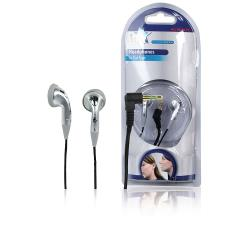 HQ HQ-HP107IE Hoofdtelefoon In-Ear 3.5 mm Bedraad Zilver