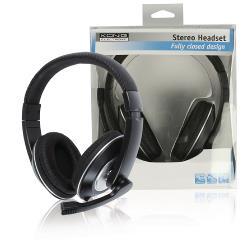 König CMP-HEADSET130 Headset Over-Ear 2x 3.5 mm Bedraad Ingebouwde Microfoon Zwart