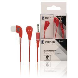 König CSHPIER100RE Hoofdtelefoon In-Ear 3.5 mm Bedraad Rood