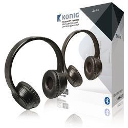 König CSBTHS300BL Headset On-Ear Bluetooth Ingebouwde Microfoon Zwart
