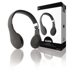 Sweex SWBTHS100BL Headset On-Ear Bluetooth Ingebouwde Microfoon Zwart