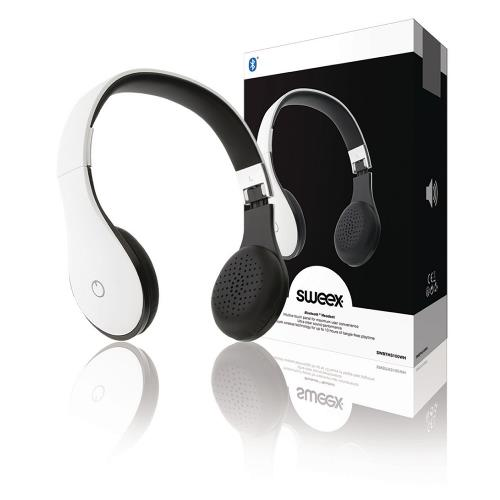 SWBTHS100WH Headset On-Ear Bluetooth Ingebouwde Microfoon Wit
