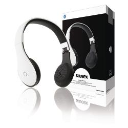 Sweex SWBTHS100WH Headset On-Ear Bluetooth Ingebouwde Microfoon Wit