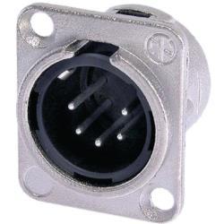 Neutrik  XLR Panel-mount male receptacle 5 Panel-mount male receptacle DL soldeer connectie nickel-plated