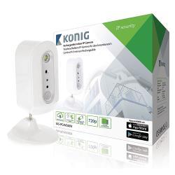 König SAS-IPCAM300W HD IP Camera Binnen 720P Oplaadbaar Wit/Zilver