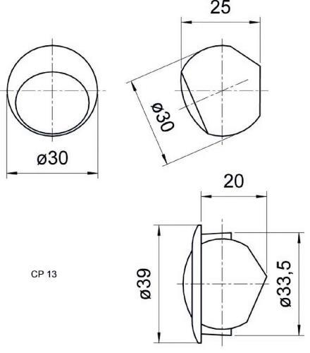 "Visaton 4454 Compact tweeters 13mm (0.5"")"