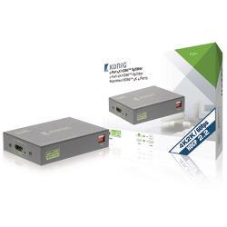 König KNVSP3434 HDMI Splitter HDMI-Ingang - 4x HDMI-Uitgang Donkergrijs
