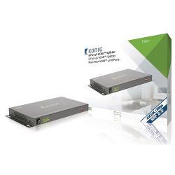 König KNVSP3438 HDMI Splitter HDMI-Ingang - 8x HDMI-Uitgang Donkergrijs