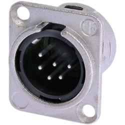 Neutrik NC6MD-L-1 XLR Panel-mount male receptacle 6 Panel-mount male receptacle DL soldeer connectie nickel-plated