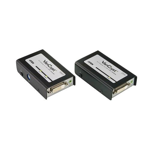 VE600A-AT-G DVI-Repeater Zwart