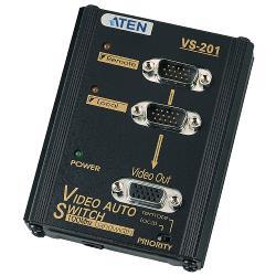 Aten  VGA Schakelaar 2x VGA Male - VGA Female 15-Pins Zwart