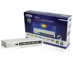 Aten  HDMI Schakelaar 4x HDMI-Ingang + RS232 Female - HDMI-Uitgang Zilver