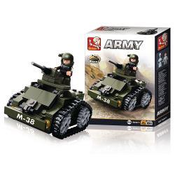 Sluban M38-B0587C Bouwstenen Army Gepantserde Wagen