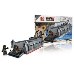 Sluban M38-70070 Bouwstenen WWII Operation Overlord Landing Craft