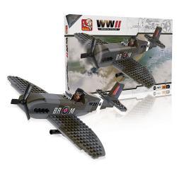Sluban M38-70071 Bouwstenen WWII Operation Overlord Spitfire