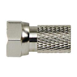 Macab 4331114 F-Connector 2.5 mm Male Metaal Zilver/Zilver