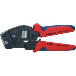 Knipex 97 53 09 SB Crimping pliers for front insertion End-sleeves for wires 0.08...16 mm²