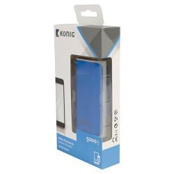 König KNPB5000BU Draagbare Powerbank 5000 mAh USB Blauw