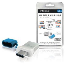 Integral INFD16GBFUS3.0-C USB Stick USB 3.0 16 GB Aluminium/Blauw