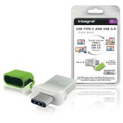 Integral INFD32GBFUS3.0-C USB Stick USB 3.0 32 GB Aluminium/Groen