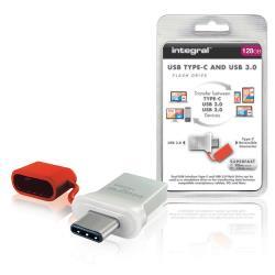 Integral INFD128GBFUS3.0-C USB Stick USB 3.0 128 GB Aluminium/Rood