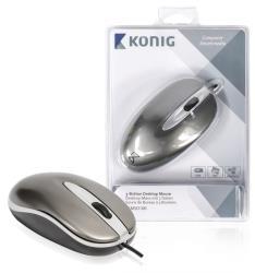 König CSMSD100 Desktop-muis met 3 knoppen full-size