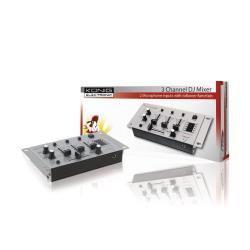 König KN-DJMIXER10 3-kanaals DJ mixer