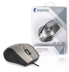 König CSMSD400 Desktop-muis met 5 knoppen